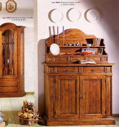 Dettagli: credenza con piattaia in legno vecchio790,oo +iva e spese ...